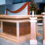 Altar Table and Candle Bases