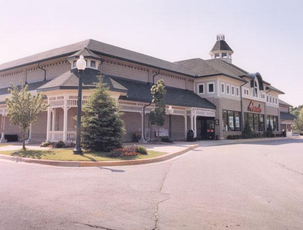 Finished shopping center