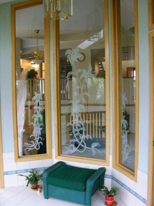 Interior glass windows