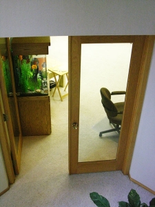 Finished interior doors
