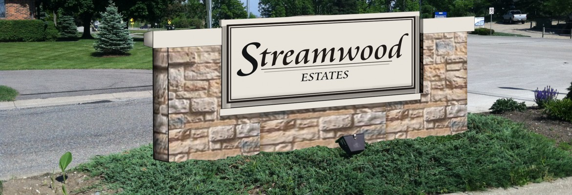 Streamwood Sign - In Progress