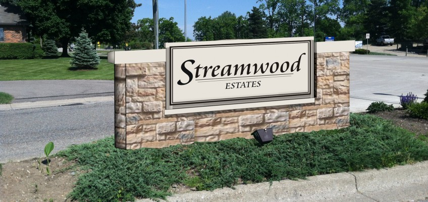 Streamwood Sign – In Progress