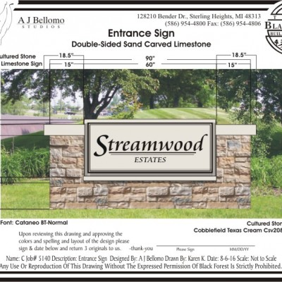 Design and digital drawing of new sign