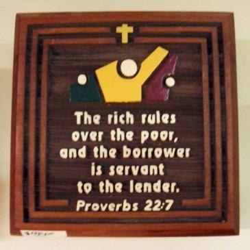 Proverbs 22:7 Plaque